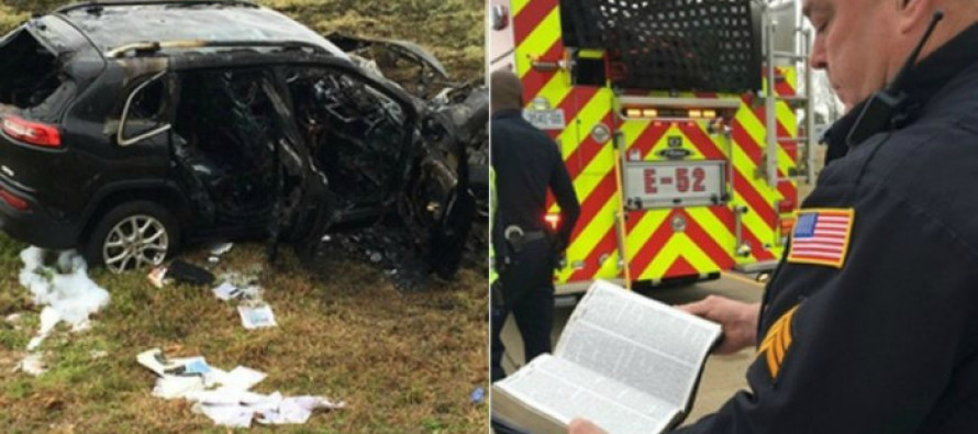 A Bible Survives 'Miraculously' Undamaged After an SUV Bursts Into Flames