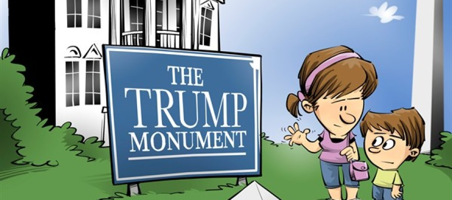 Trump monunument (Cartoon)