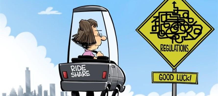 TEXAS Uber in Austin (Cartoon)