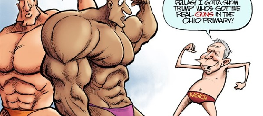LOCAL OH – Kasich the Bodybuilder (Cartoon)