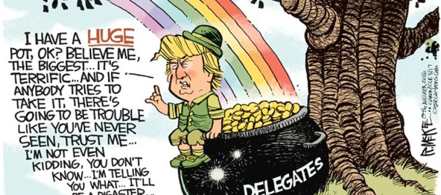 Trump Leprechaun (Cartoon)