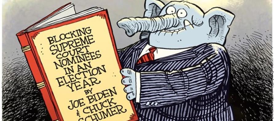 Supreme Court Block (Cartoon)
