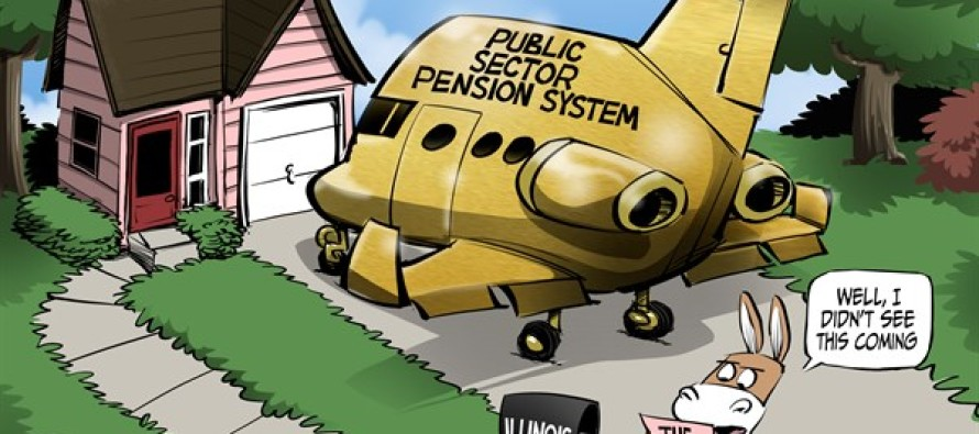 ILLINOIS Public Pension Bill (Cartoon)