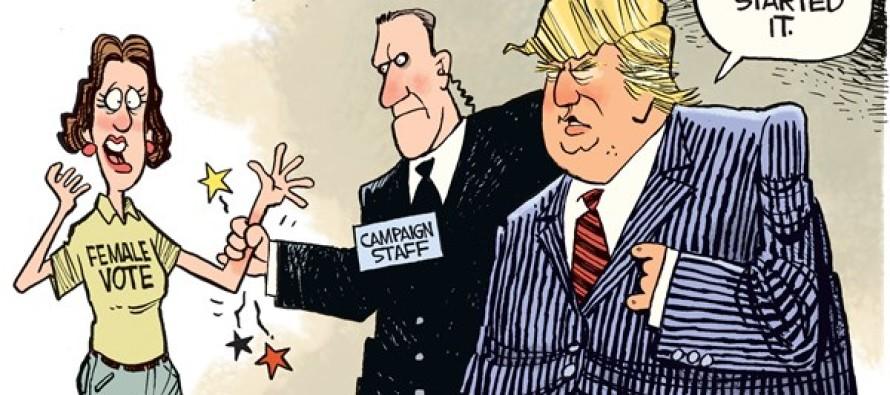 Trump's Female Problem (Cartoon)