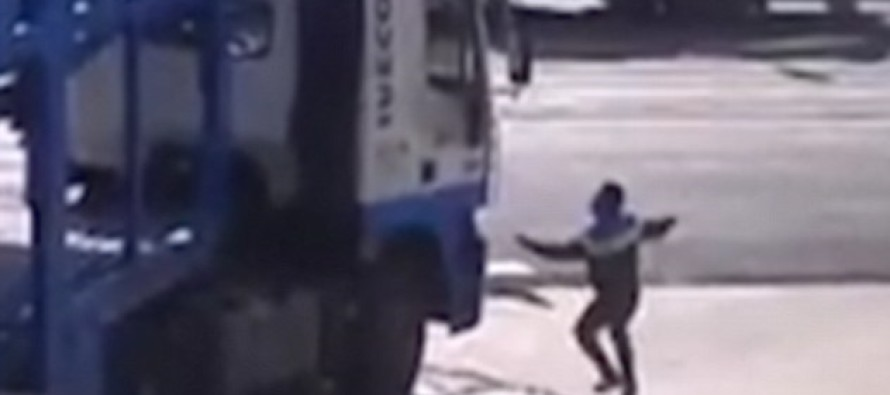 TERRIFIED Panic-Ridden Father Watches His 5-Yr Old Being Swept Under A Truck- Then THIS Happens…