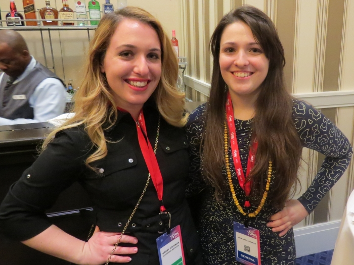 Gabriella Hoffman and Anna Maria Hoffman at the the NRA News Social Hour event