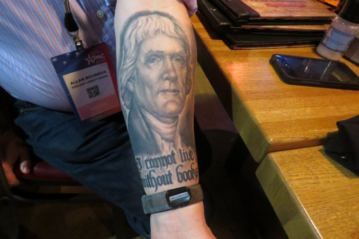 Rarely will you see a tattoo like this anywhere but CPAC