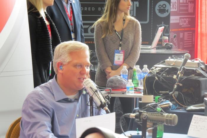 Glenn Beck speaks from Radio Row on Day 2
