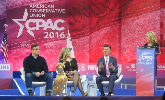 Benny Johnson, Rob Bluey and Katie Pavlich take questions from Dana Perino on the main stage