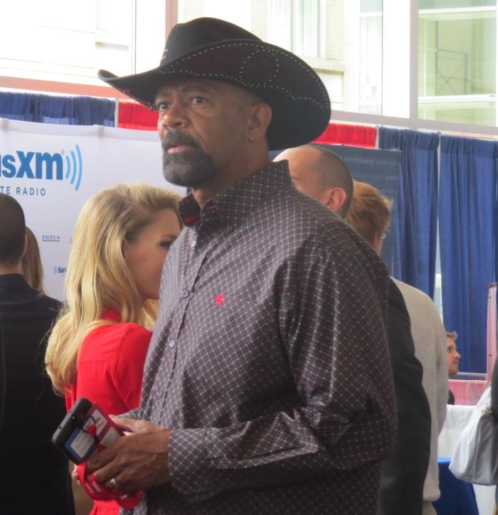 Sheriff David Clarke at Radio Row