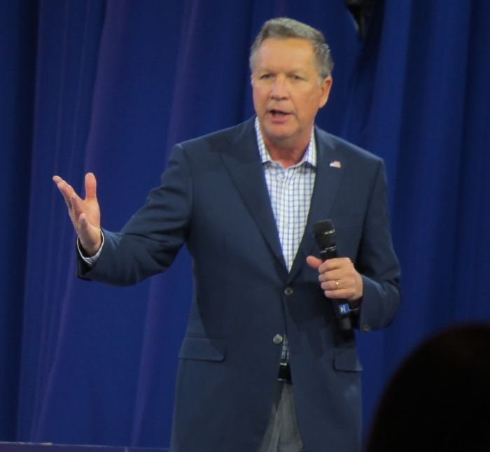 John Kasich speaks from the main stage