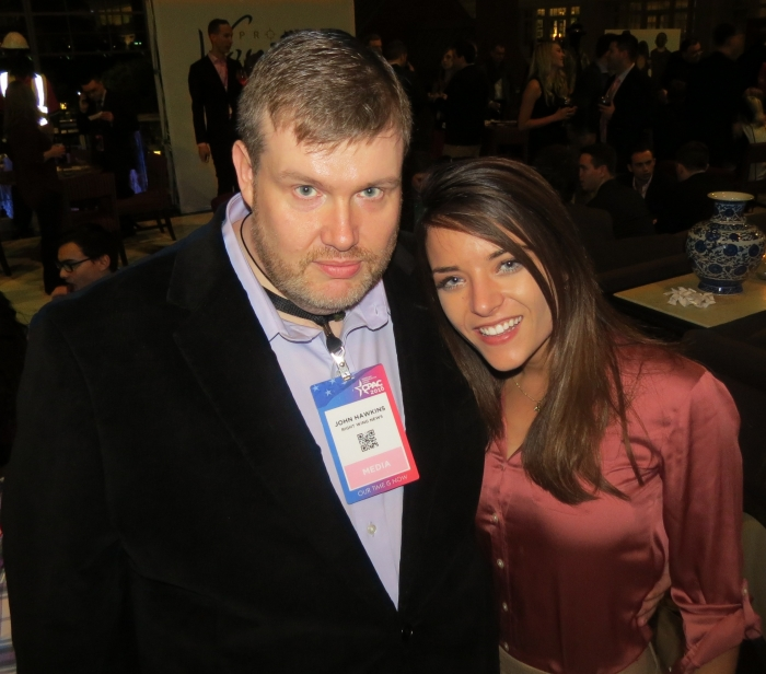 John Hawkins & Kristin Tate at the Project Veritas CPAC Party