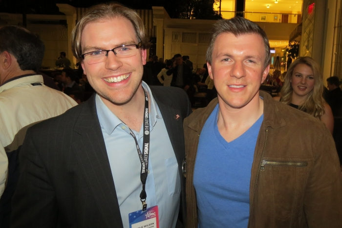 Amile Wilson and James O'Keefe at the Project Veritas CPAC Party