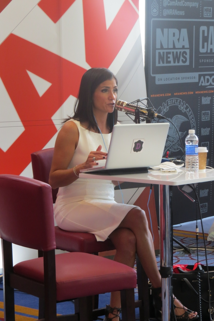 Dana Loesch on air from radio row on Day 1