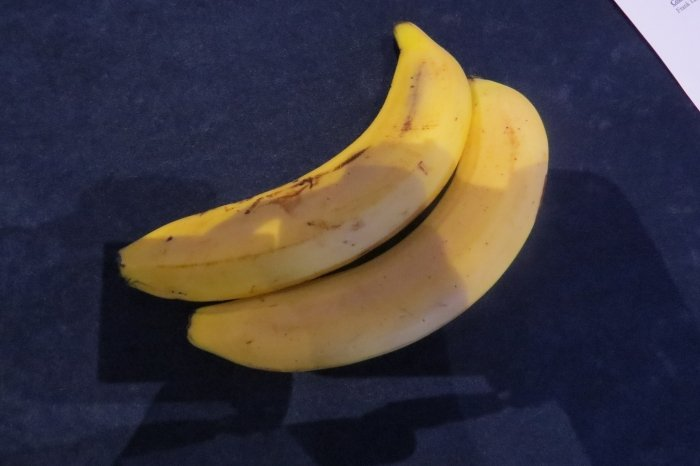 I needed some breakfast and decided to buy some bananas from the CPAC vendor. I thought they said 2 for $3. Actually, it was $3 per banana. Any banana that expensive deserves its own picture.