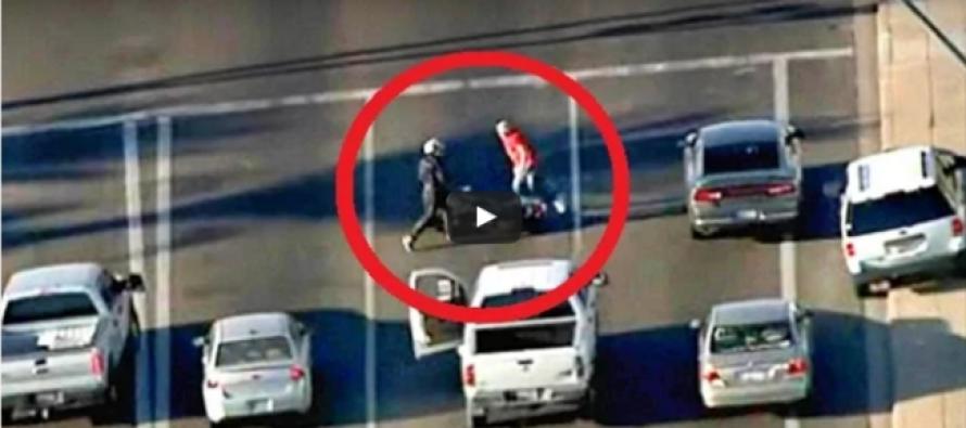 VIDEO: Combat Veteran on a Motorcycle Kicks His Carjacker's A–!