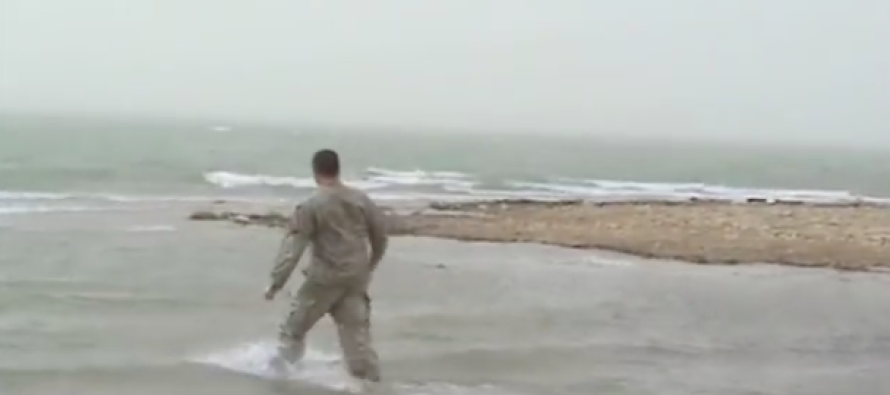 Powerful Moment Soldier Drops His Weapon And Runs Into The River – You May Cry When You See Why