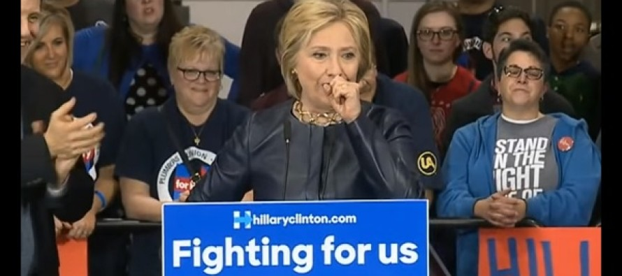 VIDEO: Old, Sick Hillary Clinton Has Another Public Coughing Fit