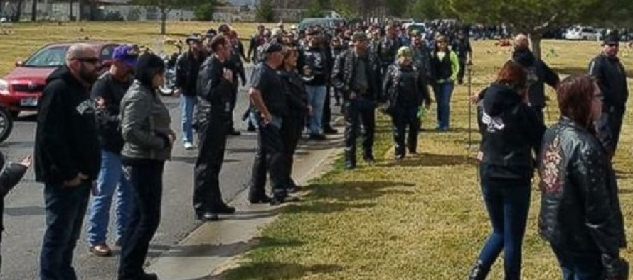 Thousands Of Bikers Show Up To Funeral For 5 Year-Old Who Loved Motorcycles