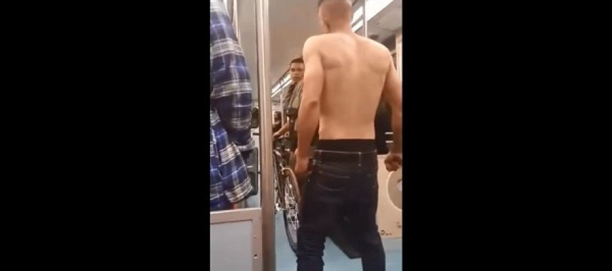 VIDEO: Violent Punk Threatens Subway Passengers… Suddenly Sees Total Darkness