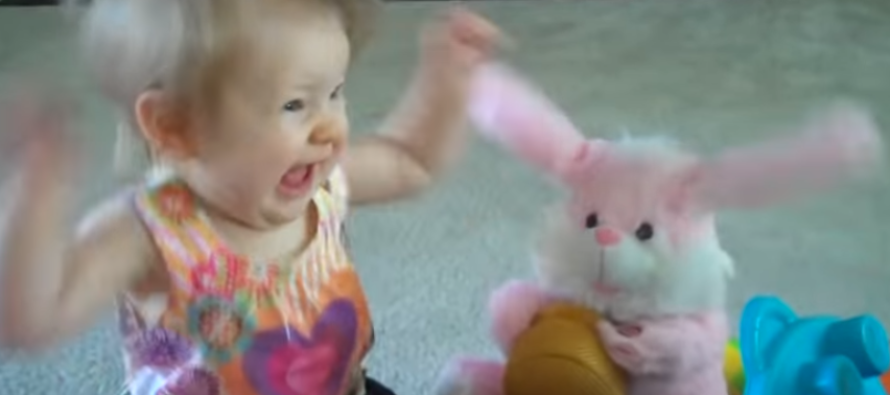 Baby Girl Has EPIC Dance-Off With Her Easter Bunny