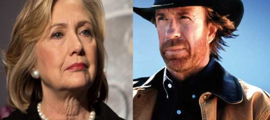 Chuck Norris Reveals a Huge Piece of Hillary's Past She Did NOT Want America to See