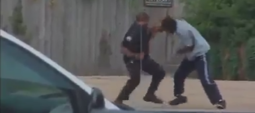 VIDEO: This Thug Made The Mistake Of Swinging On a Cop With Skills