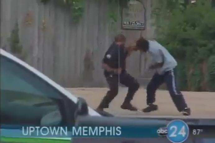 cop vs thug fight