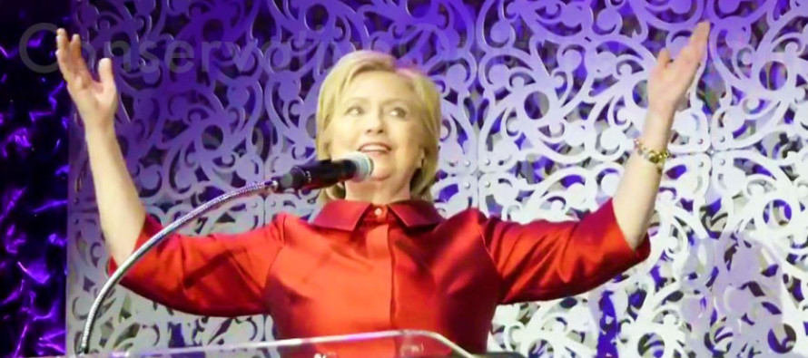 Something Eerie Was Spotted Behind Hillary in Church