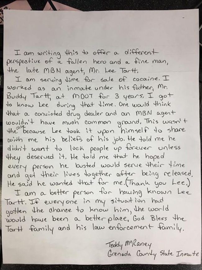 inmate letter