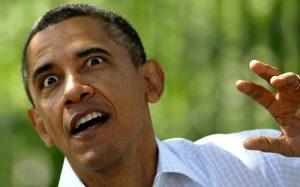 Obama zombie.