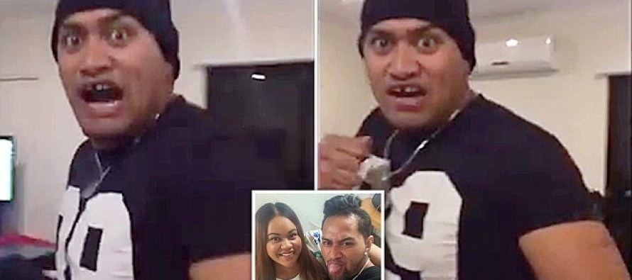HAHA! Wife Punks Burly Husband, Jump Scaring Him Endlessly On Video – His Reactions? PRICELESS!