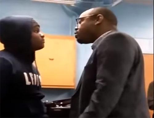 punk with teacher