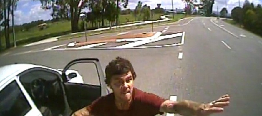 AUSSIE ROAD RAGE: Smashing Windshields, Kicking Trucks And Spitting On Drivers, All On Video!