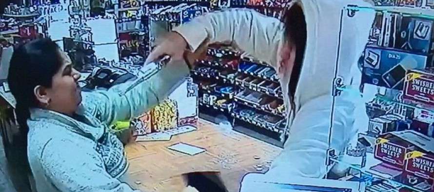 Armed Robber Thinks He Has The Upper Hand — Female Cashier Says … NOT TODAY!