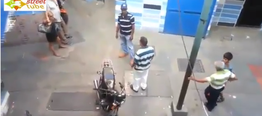 Ugly Street Fight Video: After He Knocks the First Guy Unconscious, The 2nd Guy Brings A WHIP