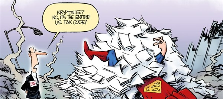 Taxman v Superman(Cartoon)