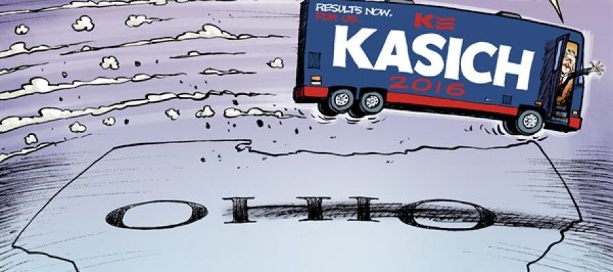 LOCAL OH – Kasich Swings (Cartoon)