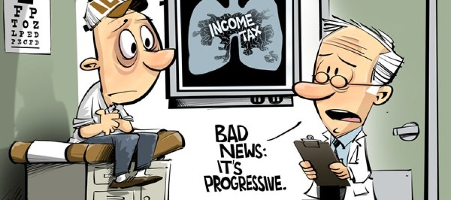 ILLINOIS the income tax problem (Cartoon)