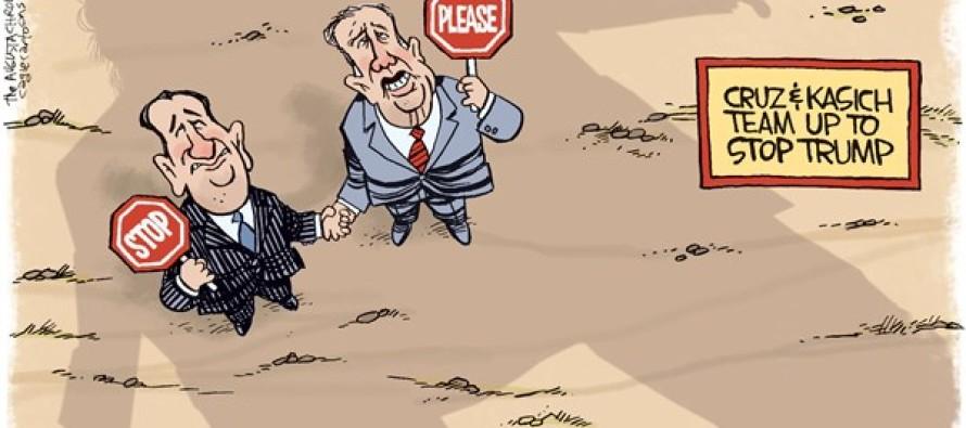 Cruz Kasich Team (Cartoon)