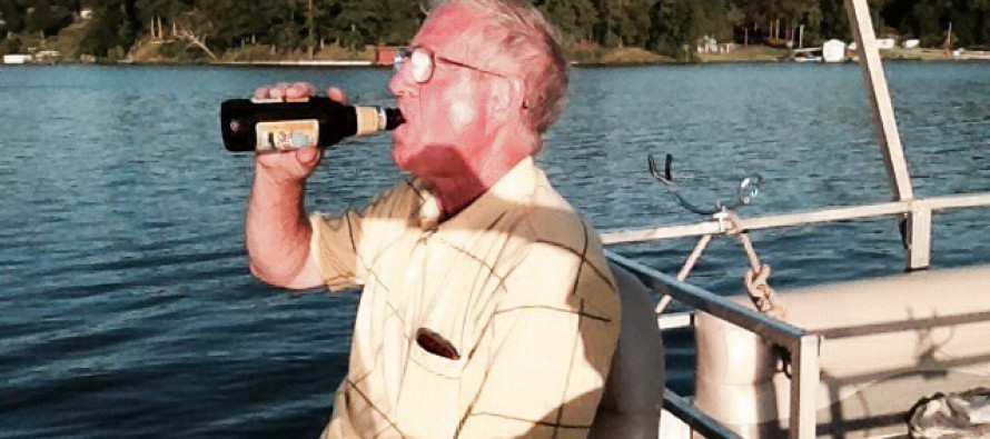 All this guy wanted was a cold one…so he got one right to the FACE!