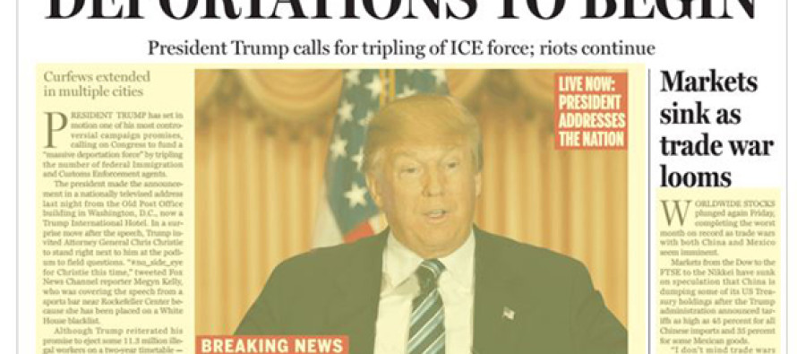 Boston Globe Publishes FAKE Offensive Donald Trump Front Page