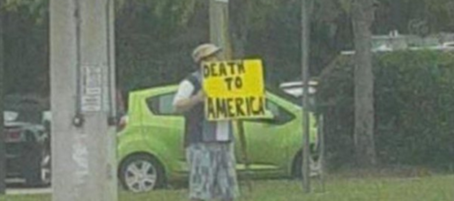 VIDEO: Man Holds THIS Death To America Sign – Guess What Happened Next? OUCH!