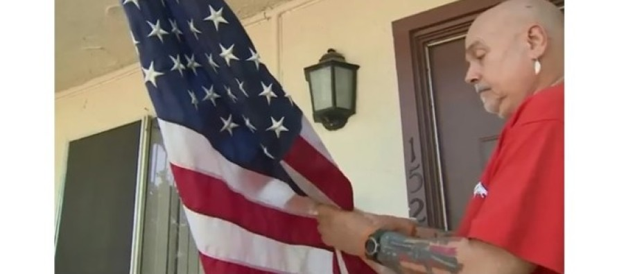 Company Threatened To EVICT Veteran Over Flag – Then Just 1 Phone Call Changed EVERYTHING!