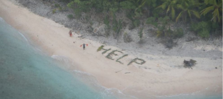 This Amazing Deserted Island Rescue Trick Was Just Like Out of a Movie Script…