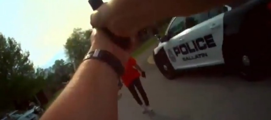 VIDEO: Cop Forced To Take Action After Woman Attacks Him With THIS