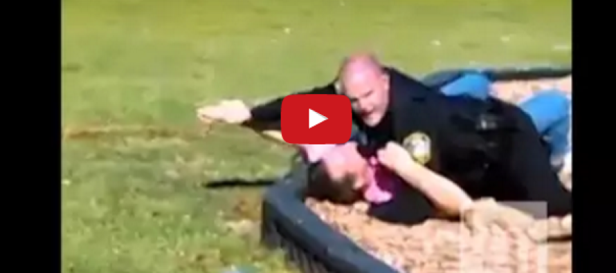 Cop Approaches Man Who Kidnapped Kid at Playground… Then THIS Happens