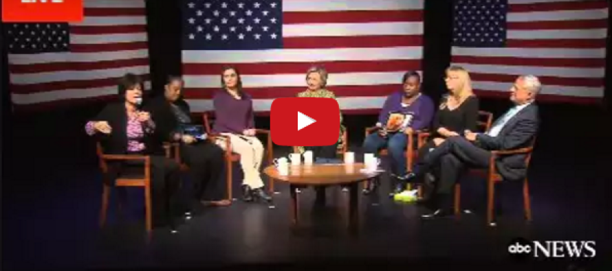 Watch What Hillary Does When Panelist Says 'Gun Owners Are Terrorists'