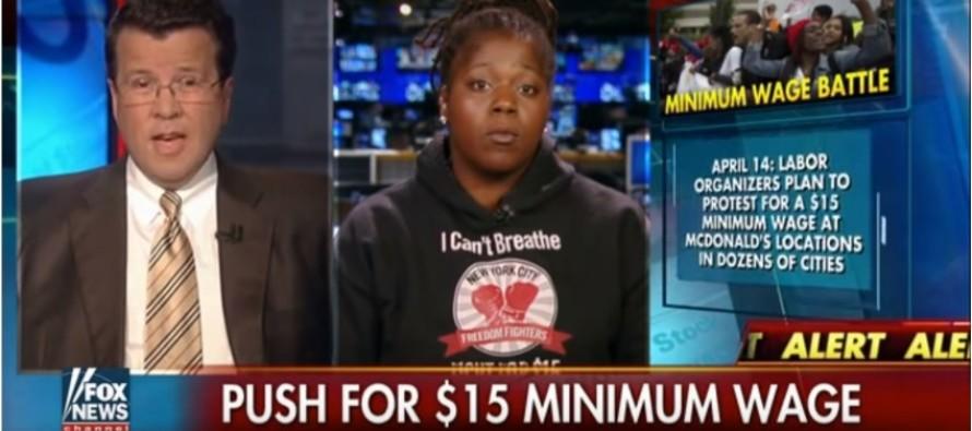 HAH! Watch Neil Cavuto SMACK DOWN Liberal Moron Who Wants Minimum Wage Hike
