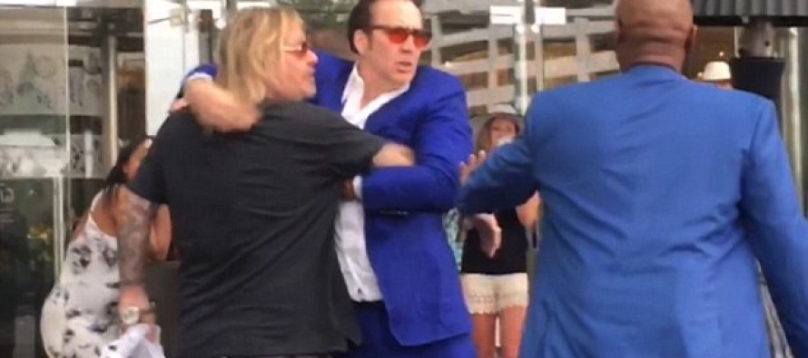 VIDEO: Nic Cage Brawls With Motley Crue Lead Singer In Vegas